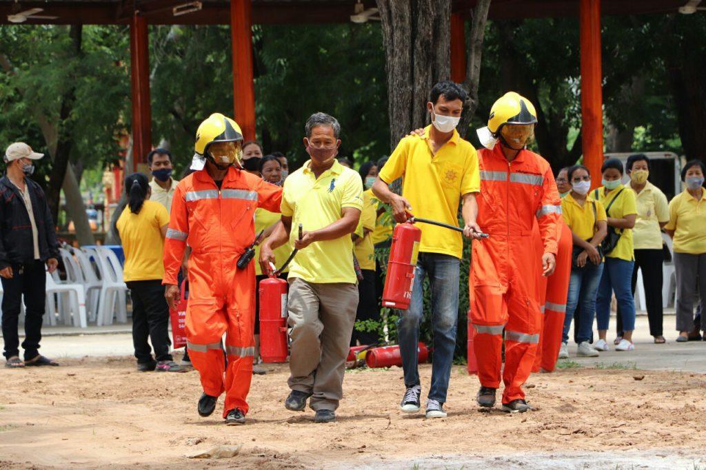โครงการป้องกันอัคคีภัยและสาธิตการดับเพลิง